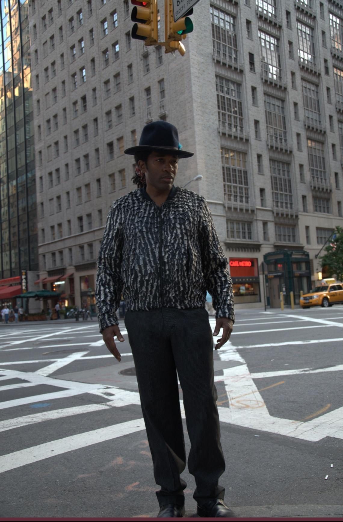 Photo courtesy James David. Wardrobe courtesy D. Lowe Location NYC